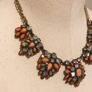 👉👉LOFT Burnt Orange Statement Necklace